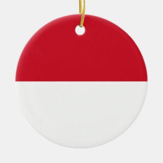Ornamento De Cerâmica Bandeira nacional do mundo de Indonésia
