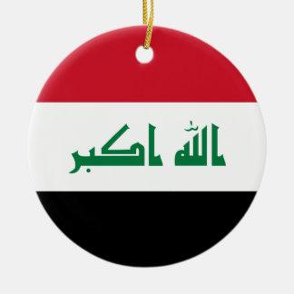 Ornamento De Cerâmica Bandeira nacional do mundo de Iraque