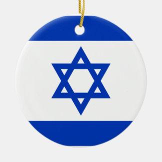 Ornamento De Cerâmica Bandeira nacional do mundo de Israel