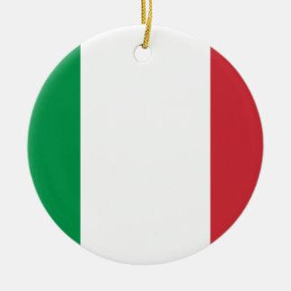 Ornamento De Cerâmica Bandeira nacional do mundo de Italia