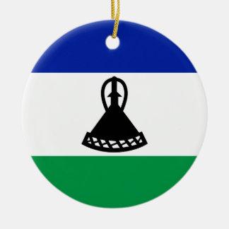 Ornamento De Cerâmica Bandeira nacional do mundo de Lesotho