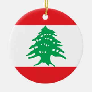 Ornamento De Cerâmica Bandeira nacional do mundo de Líbano