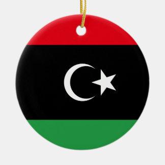Ornamento De Cerâmica Bandeira nacional do mundo de Líbia