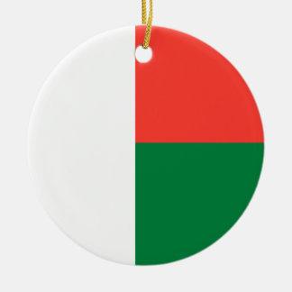 Ornamento De Cerâmica Bandeira nacional do mundo de Madagascar
