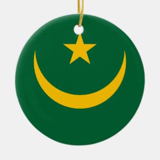 Ornamento De Cerâmica Bandeira nacional do mundo de Mauritânia