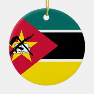 Ornamento De Cerâmica Bandeira nacional do mundo de Mozambique