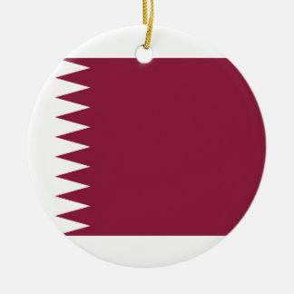 Ornamento De Cerâmica Bandeira nacional do mundo de Qatar