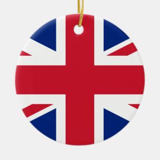 Ornamento De Cerâmica Bandeira nacional do mundo de Reino Unido