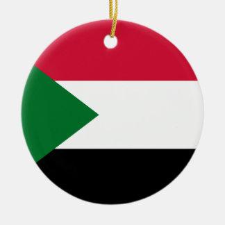 Ornamento De Cerâmica Bandeira nacional do mundo de Sudão