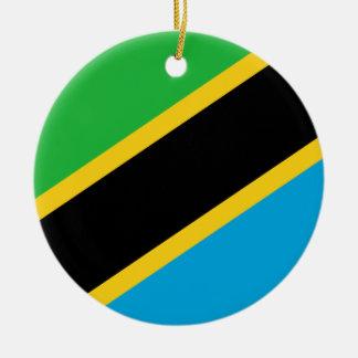 Ornamento De Cerâmica Bandeira nacional do mundo de Tanzânia
