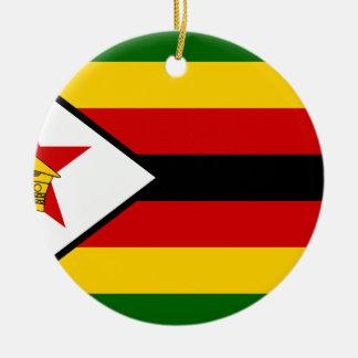 Ornamento De Cerâmica Bandeira nacional do mundo de Zimbabwe