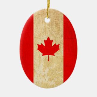 Ornamento De Cerâmica Bandeira nacional patriótica do vintage original