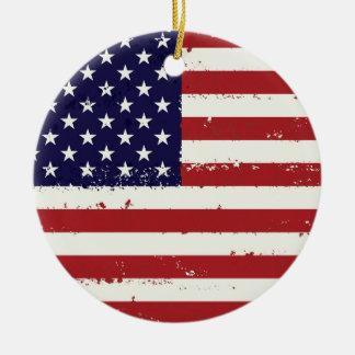 Ornamento De Cerâmica Bandeira patriótica EUA