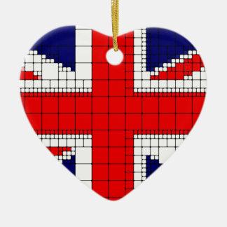 Ornamento De Cerâmica Bandeira Reino Unido do jaque de união patriótica