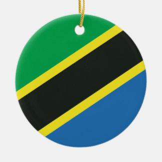 Ornamento De Cerâmica Bandeira tanzaniana