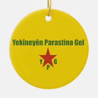 Ornamento De Cerâmica Bandeira v2 de YPG