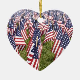 Ornamento De Cerâmica Bandeiras do Memorial Day