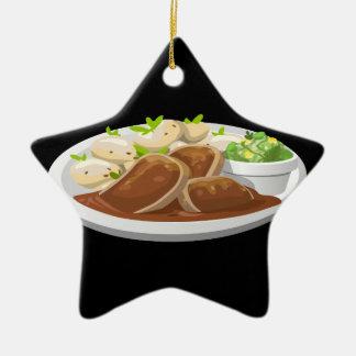 Ornamento De Cerâmica Banquete dos potians da comida do pulso aleatório