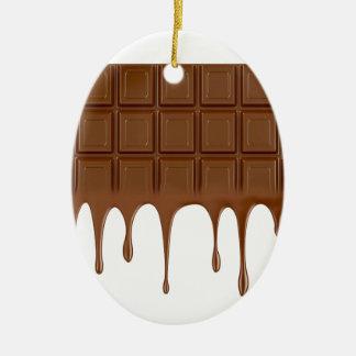 Ornamento De Cerâmica Bar de chocolate derretido