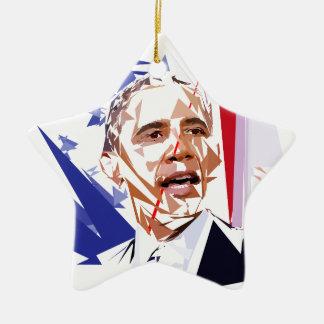 Ornamento De Cerâmica Barack Obama