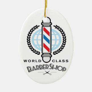 Ornamento De Cerâmica Barbearia da classe do mundo