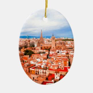 Ornamento De Cerâmica Barcelona