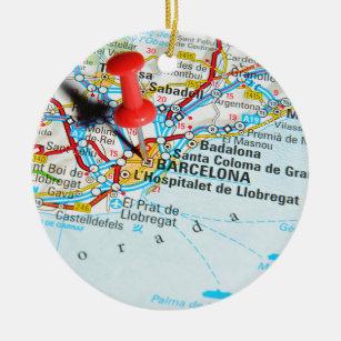 Ornamento De Cerâmica Barcelona, espanha