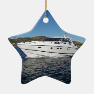 Ornamento De Cerâmica Barco de motor luxuoso