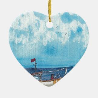 Ornamento De Cerâmica Barco de pesca