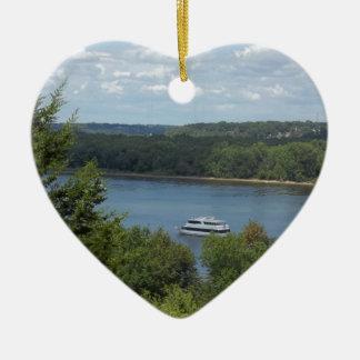 Ornamento De Cerâmica Barco do rio Mississípi