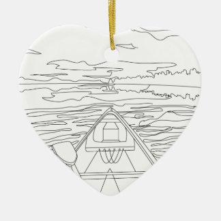 Ornamento De Cerâmica Barco no lago