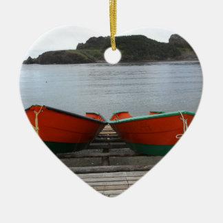 Ornamento De Cerâmica Barcos bonito de Terra Nova