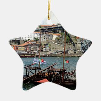 Ornamento De Cerâmica Barcos do tambor de vinho, Porto, Portugal