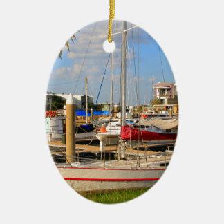 Ornamento De Cerâmica Barcos no porto, Darwin, Austrália