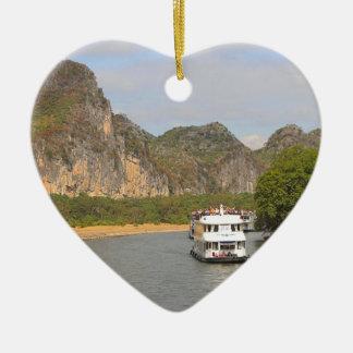 Ornamento De Cerâmica Barcos no rio de Li, China