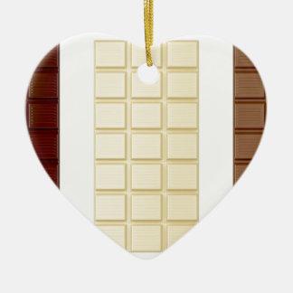 Ornamento De Cerâmica Bares de chocolate