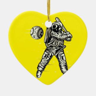 Ornamento De Cerâmica Basebol do espaço