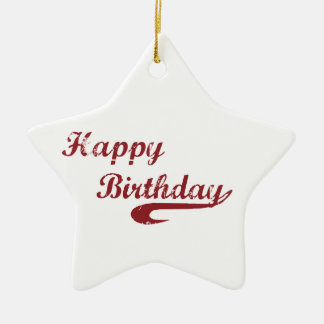 Ornamento De Cerâmica Basebol do Grunge do feliz aniversario do