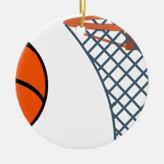 Ornamento De Cerâmica Basketball2
