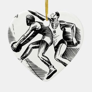 Ornamento De Cerâmica basquetebol