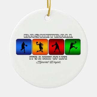 Ornamento De Cerâmica Basquetebol legal é um modo de vida