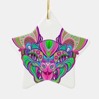 Ornamento De Cerâmica Bastão psicadélico do arco-íris
