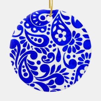 Ornamento De Cerâmica batik 03 mega