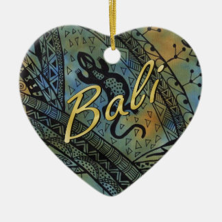 Ornamento De Cerâmica Batik do lagarto