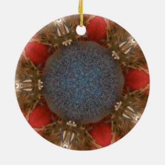 Ornamento De Cerâmica Baubles da decoração do Natal do vermelho azul
