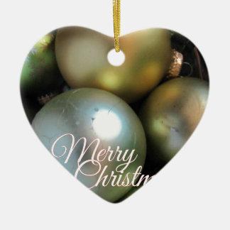 Ornamento De Cerâmica Baubles do Feliz Natal