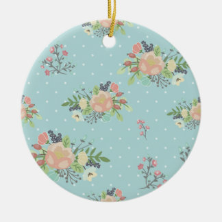 Ornamento De Cerâmica Beauty seamless floral pattern