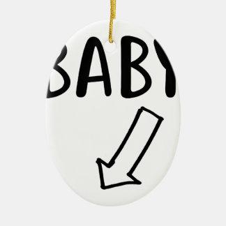 Ornamento De Cerâmica Bebê