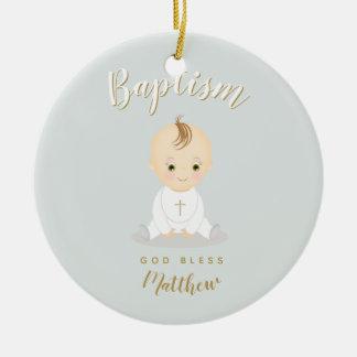 Ornamento De Cerâmica Bebé do baptismo
