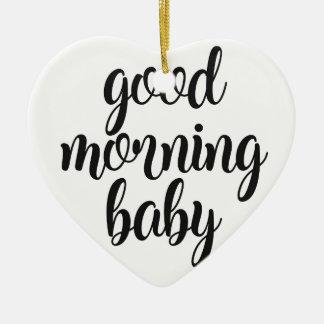 Ornamento De Cerâmica Bebê do bom dia